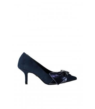 İnci Lacivert Kadın Topuklu Ayakkabı 7127 120130009166