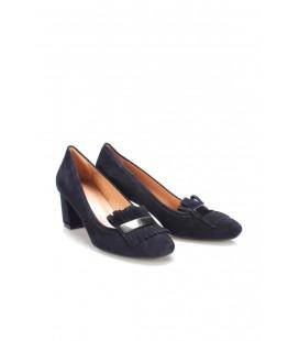 İnci Hakiki Deri Süet Lacivert Kadın Klasik Topuklu Ayakkabı 6784 120130008802