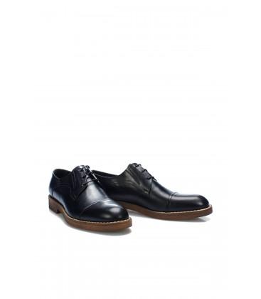 İnci Hakiki Deri Siyah Erkek Oxford Ayakkabı 7001 120130009027