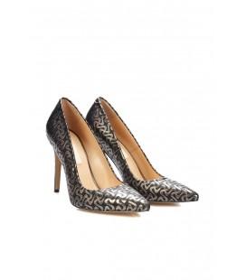 İnci Bronz Kadın Klasik Topuklu Ayakkabı 7051 120130009079