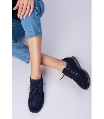İnci Hakiki Deri Süet Lacivert Kadın Casual Ayakkabı 6680 120130008658