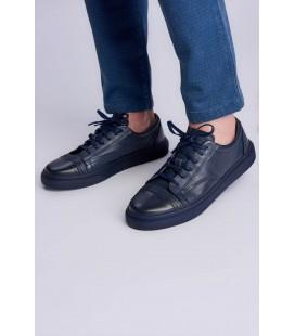 İnci Hakiki Deri Lacivert Erkek Sneaker 7082 120130009114