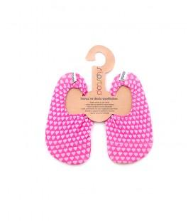 SlipStop Pink Heart Kaydırmaz Havuz ve Deniz Ayakkabısı SS14110012