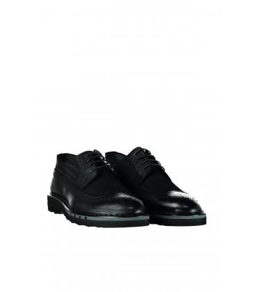 İnci Hakiki Deri Siyah Erkek Oxford Ayakkabı 6853 120130008876