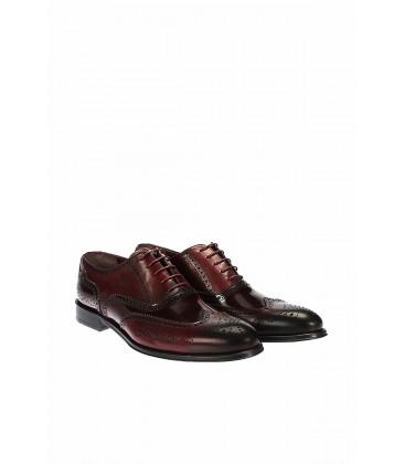 İnci Hakiki Deri Koyu Bordo Casual Ayakkabı 5880 120130005737