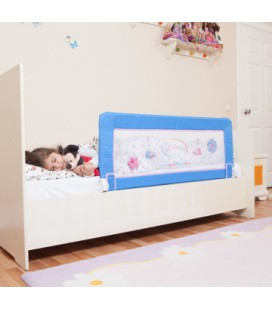 Miny Baby Portatif  Katlanabilir Yatak Bariyeri Mavi
