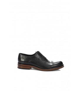 İnci Hakiki Deri Siyah Erkek Oxford Ayakkabı 7077 120130009109