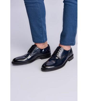 İnci Hakiki Deri Lacivert Erkek Oxford Ayakkabı 6950 120130008975