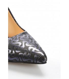 İnci Lacivert Kadın Klasik Topuklu Ayakkabı 7051 120130009079