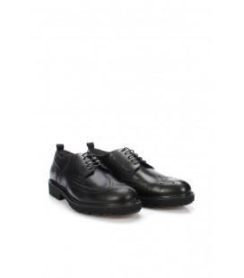 İnci Hakiki Deri Siyah Erkek Oxford Ayakkabı 6766 120130008781