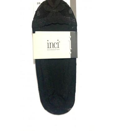 İnci Kadın File Detaylı Babet Siyah Çorap 3672