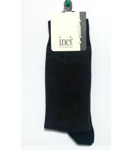 İnci Erkek Siyah Çizgi Detaylı Çorap 5289