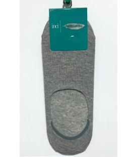 İnci Erkek Kaydırmaz Silikonlu Gri Babet Çorap 3681