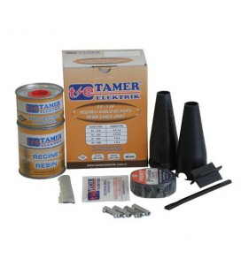 Tamer Reçineli Ek Kablo Mufu 4x4 4x6