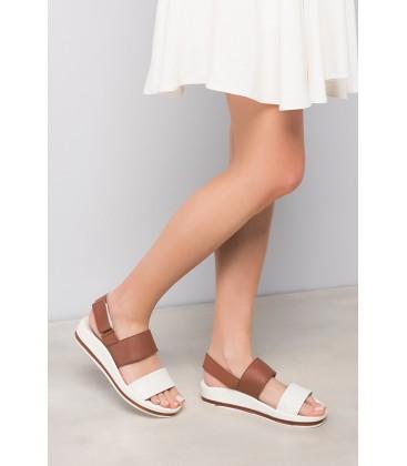 İnci Hakiki Deri Beyaz Kadın Sandalet 0802 120120037010
