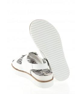 Pierre Cardin PC-2037 19 Rugan Beyaz Sandalet