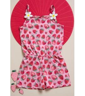 Mini City Kız Çocuk Şortlu Tulum - 5003