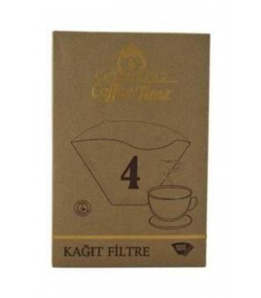 Coffee Time 4 Numara 100'lü Kahve Filtre Kağıdı 2001111981545
