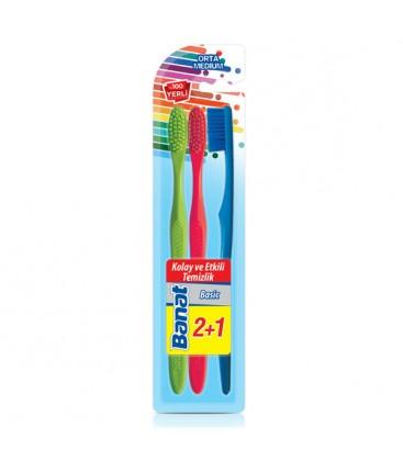 Banat Basic Diş Fırçası 2+1