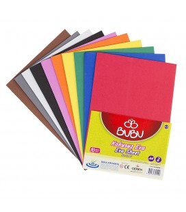 Bu-Bu Eva Kokusuz A4 Karışık Renk 10lu bu-bu00098