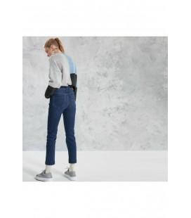 Yargıcı Kadın İndigo Mavisi Dikiş Detaylı Pantolon 0KKPN3115X
