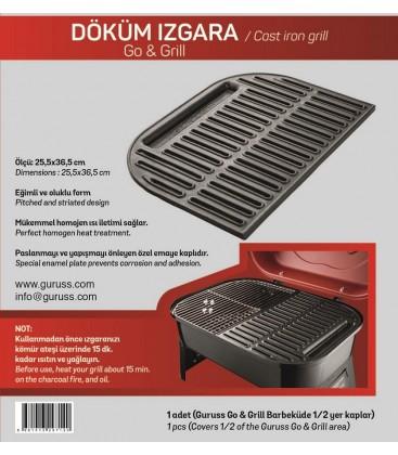 Guruss Go&Grill Döküm Izgara 25,5x36cm