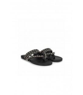 İpekyol Kadın Siyah Zincir Şeritli Terlik IS1200037010