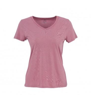 Lumberjack Basic Modal V Neck Mürdüm Kadın T-Shirt 100581846