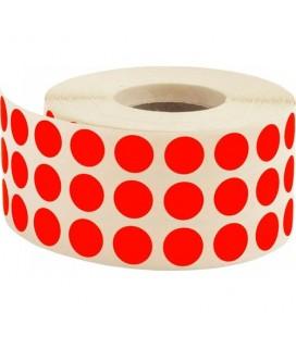 Tanex Kırmızı 10 mm Renkli Nokta Etiketi 5000'li Rulo