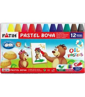 Fatih 12'li Pastel Boya Kalemi 12 Renk Pastel Boya 34012