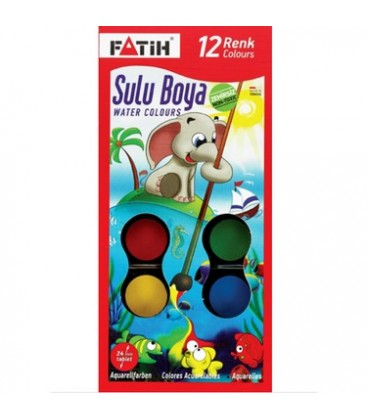 Fatih 904 S12 Sulu Boya 12'Li