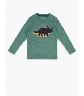 Marks & Spencer Dinozor Desenli Uzun Kollu T-Shirt T88004132B