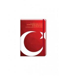Keskin Color Bayrak 17x24cm 96 Yaprak Çizgili Ciltli Lastikli Not Defteri 60 gram 415611-99