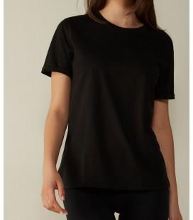 İntimissimi Kadın Siyah Kısa Kollu Supima® Cotton Tişört CMD12O
