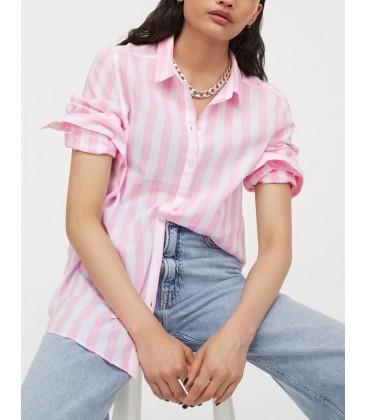H&M Kadın Keten Gömlek 0697564