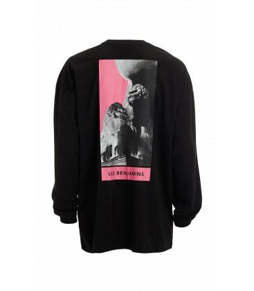 Les Benjamins Erkek Siyah T-Shirt LBJSTB-M-U-LS-005-Black - Brandroom