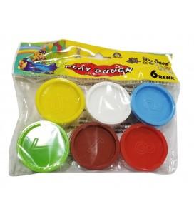 Play Dough 6 Renk Lüks Özen Oyun Hamuru