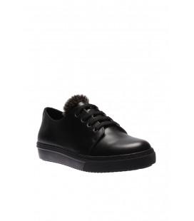 İnci Hakiki Deri Siyah Kadın Casual Ayakkabı 4504 120130003094