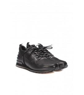 İnci Hakiki Deri Siyah Erkek Sneaker 6751 120130008766