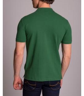Dufy Çimen Yeşili Polo Yaka Baskılı Erkek T-Shitr - Regular Fit DU2172041001
