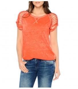 Mavi Kadın Kesik Detaylı T-Shirt 164809-20215