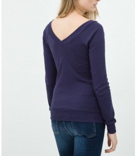 Koton Kadın V Yaka T-Shirt - Lacivert 6KTK12608SK742
