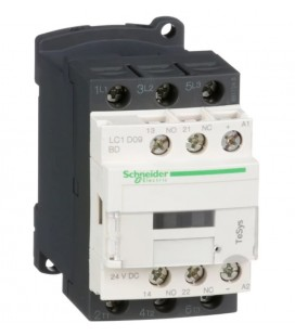 Schneider Electric  LC1D09BD 4 Kw 9A 24V Dc Güç Kontaktörü 1no+1nc Kontak