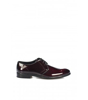 İnci Hakiki Deri Bordo Erkek Oxford Ayakkabı 7079 120130009111