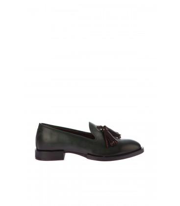 İnci Hakiki Deri Yeşil Kadın Ayakkabı 6293 120130007404