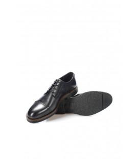 İnci Hakiki Deri Siyah Erkek Oxford Ayakkabı 6872 120130008896