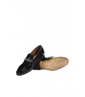 İnci Hakiki Deri Siyah Kadın Loafer Ayakkabı 6804 120130008823