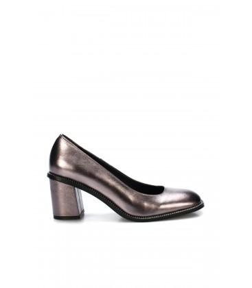 İnci Hakiki Deri Platin Kadın Klasik Topuklu Ayakkabı 6729 120130008720