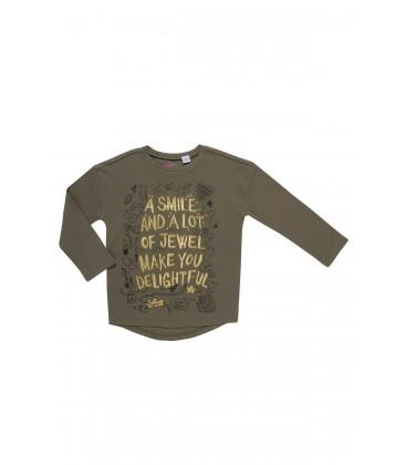 Chicco Haki Yeşil Kız Çocuk T-Shirt Uzun Kol 47810