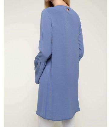 Defacto Kadın Mavi Kolları Volan Detaylı Tunik I3394AZ